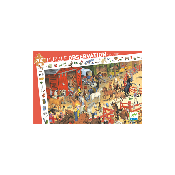 Observation Puzzle 200 Pieces Equitation