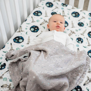 Bebe au Lait - Space + Galaxy Luxury Muslin Snuggle Blanket