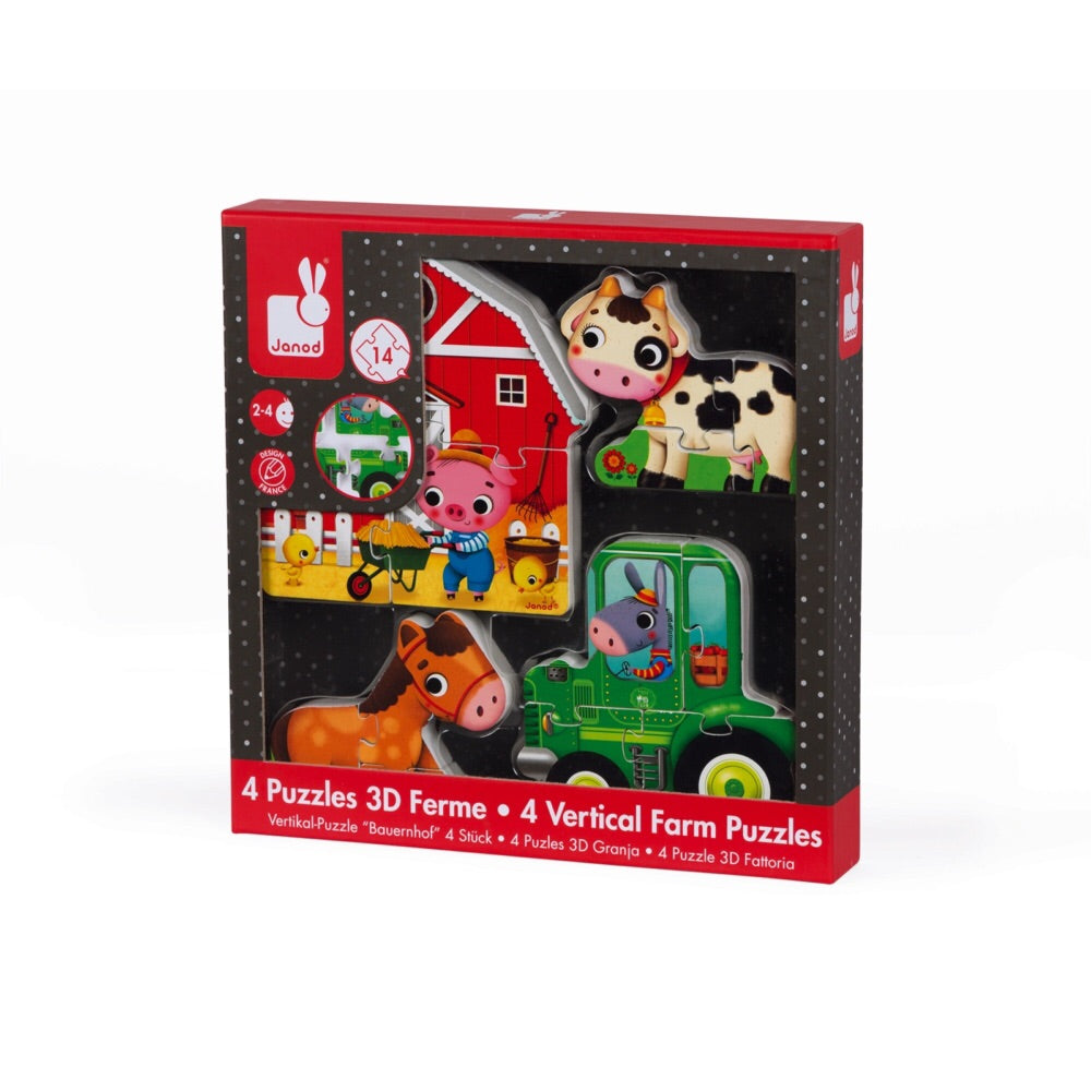 Farm Vertical Puzzles (set of 4) - Le Bébé Chic Boutique