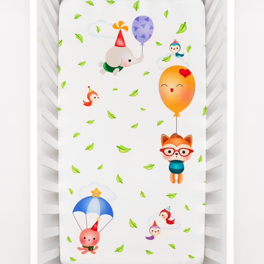 Balloon Party Crib Sheet - Le Bébé Chic Boutique