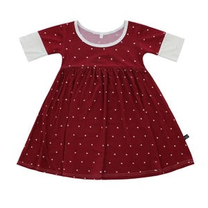 Peregrine Kidswear - Winter Polkadot Bamboo Twirl Dress