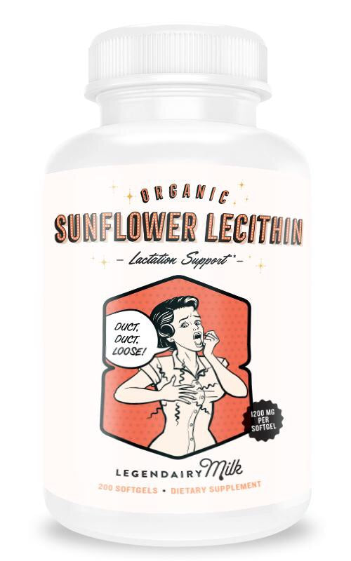 Sunflower Lecithin Legendairy Milk Supplement for Milk Flow and Plugged Ducts