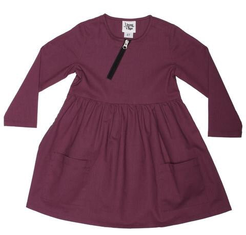 Emmy Plum Dress - Le Bébé Chic Boutique