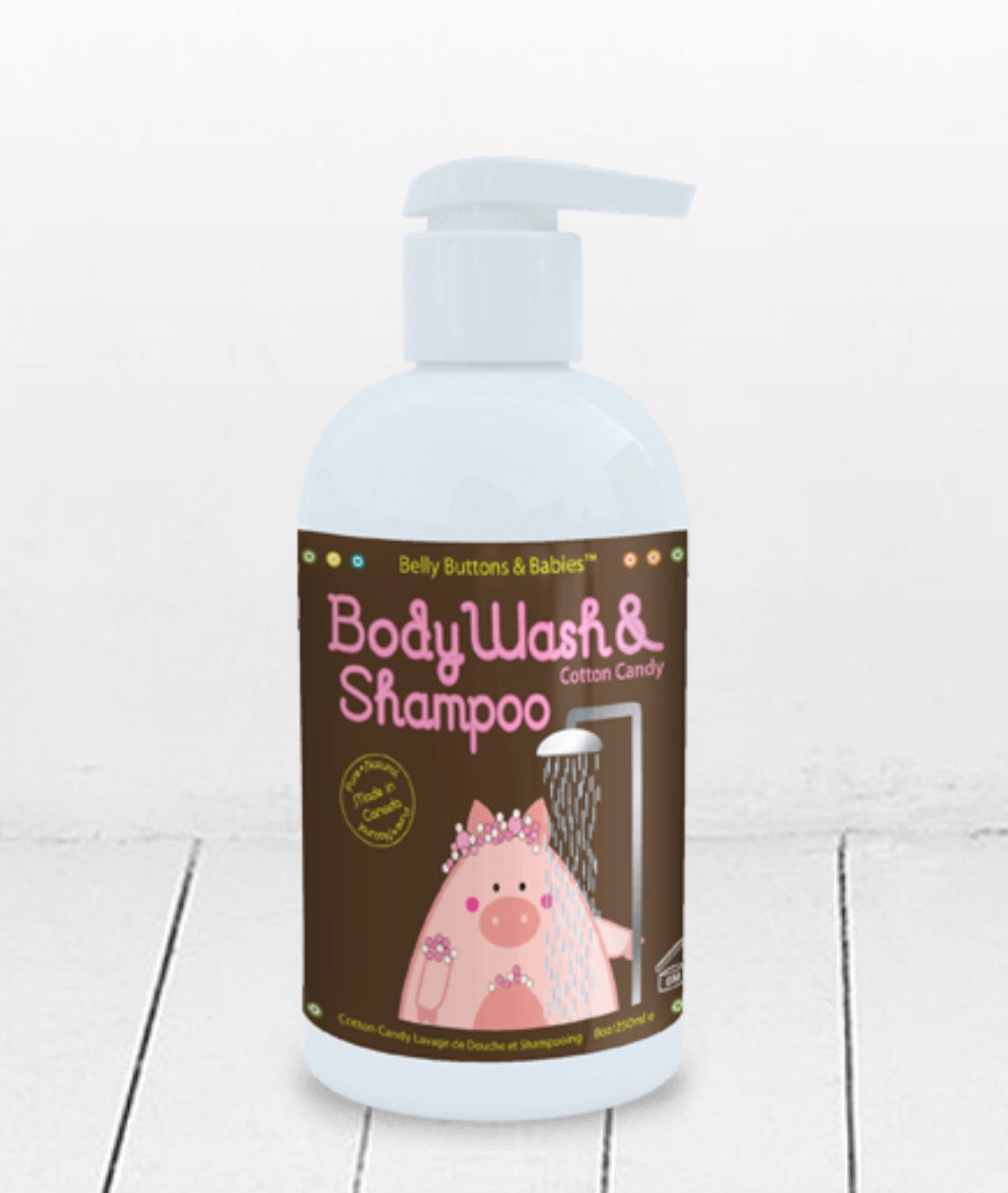 Belly Button & Babies Cotton Candy Mom & Baby Body Wash and Shampoo - Le Bébé Chic Boutique