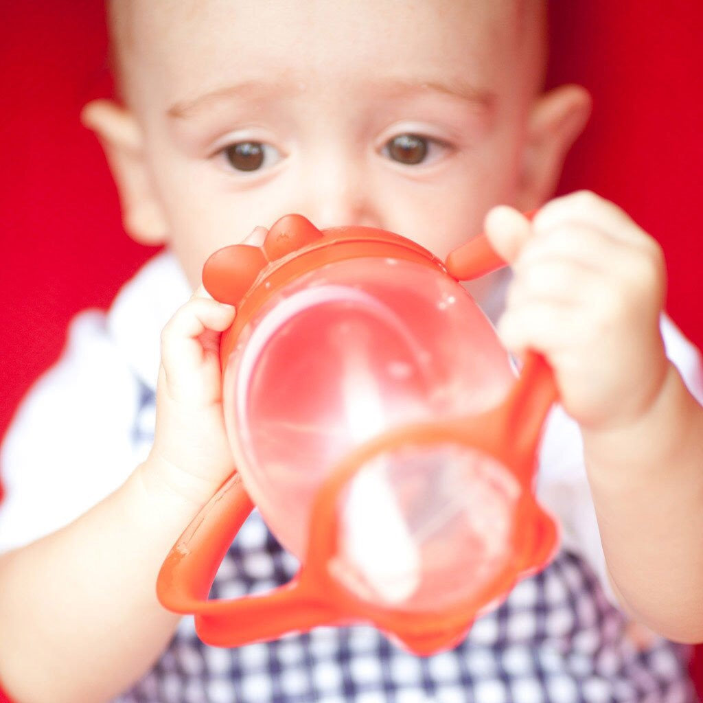 LollaCup Straw Sippy Cup-Bold Red