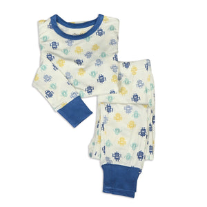 Bamboo Long Sleeve Pajama Set (2pc) - Robot