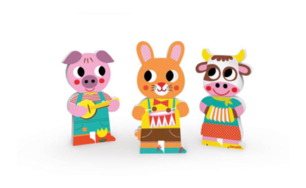 Janod 3 Funny Magnets Animals - Le Bébé Chic Boutique