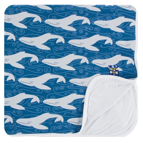 Print Toddler Blanket in Twilight Whale - Le Bébé Chic Boutique