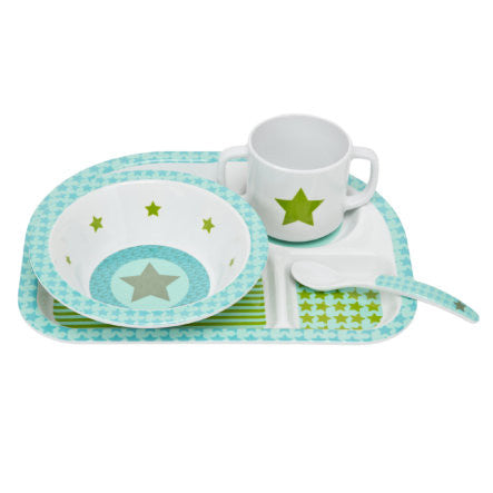 Melamine Starlight Olive Dish Set - Le Bébé Chic Boutique