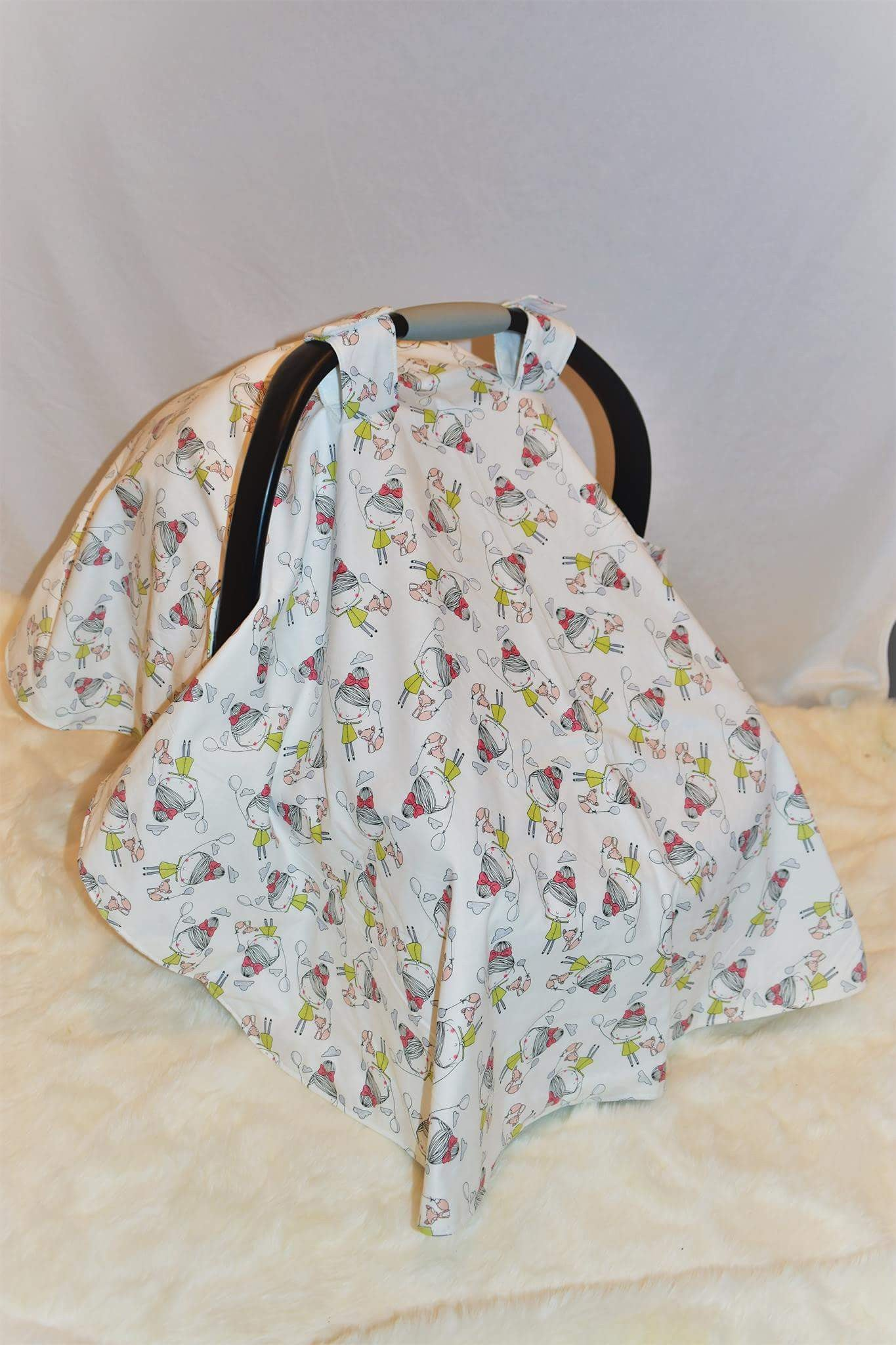 Rosie and Her Fox Car Seat Cover - Le Bébé Chic Boutique