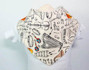 Musical Instruments Bandana Bib - Le Bébé Chic Boutique