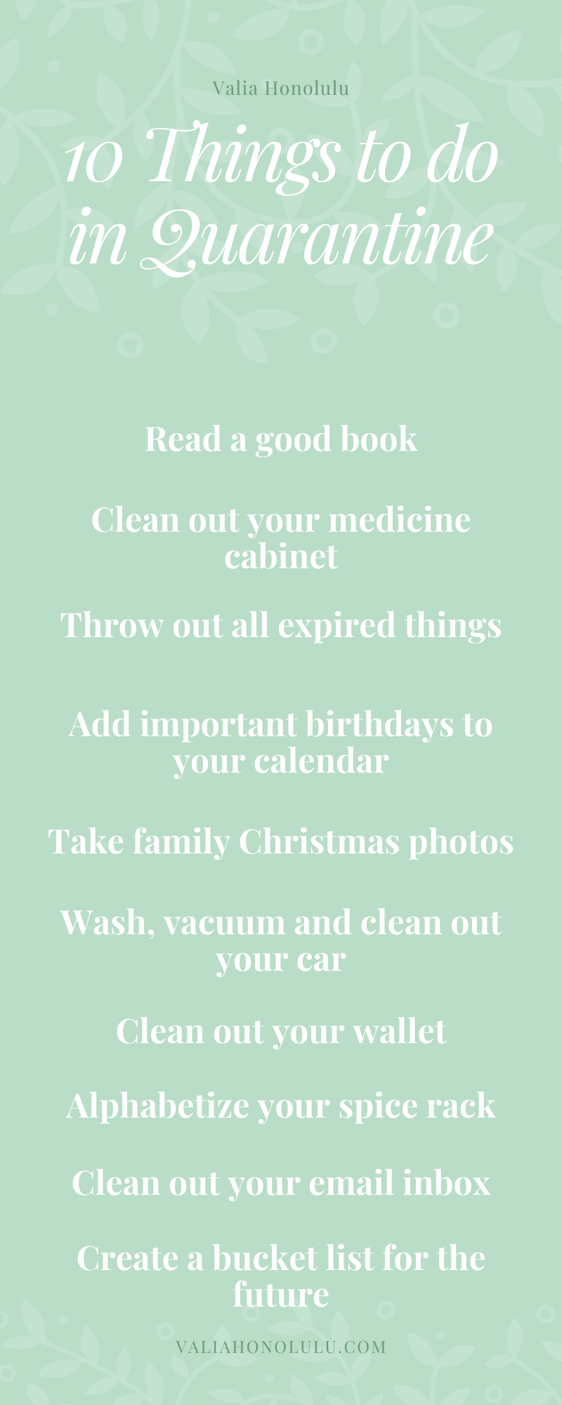 50 Things to Do Safer at Home - PART FIVE
