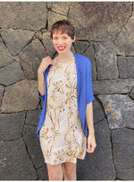 Jersey Chloe Cardigan in Dark Periwinkle Blue