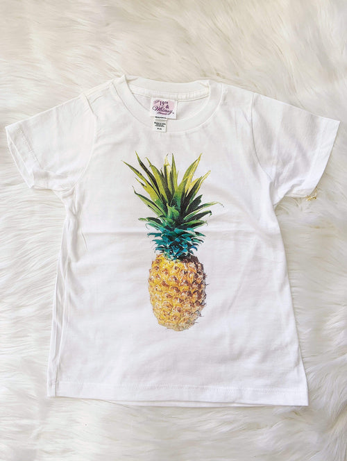 19th and Whimsy Keiki 4T Pineapple Digital Print Keiki Tee Valia Honolulu
