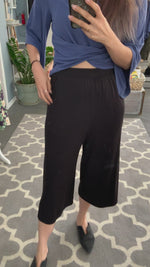 Jersey Culottes in Black