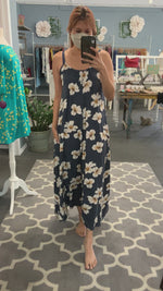 Janica Maxi Dress in Navy Breeze