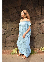 Marrakesh Off the Shoulder Maxi in Celestial Blue