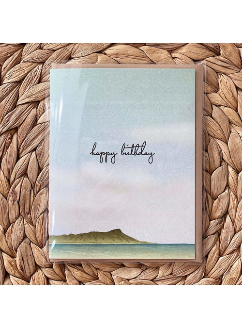 Bradley & Lily Gift Diamond Head Birthday Card Valia Honolulu