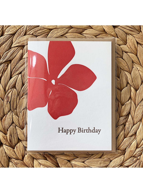 Bradley & Lily Gift Hibiscus Birthday Card Valia Honolulu
