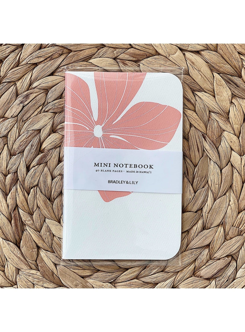 Bradley & Lily Gift Hibiscus Mini Notebook Cute Mini Notebook | Aloha Maps Mini Notebook Valia Honolulu