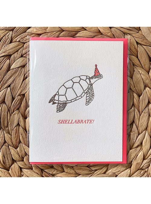 Bradley & Lily Gift Shellabrate Turtle Card Valia Honolulu
