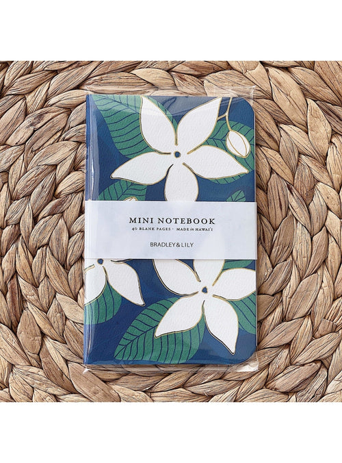 Bradley & Lily Gift Stephanotis Mini Notebook Valia Honolulu