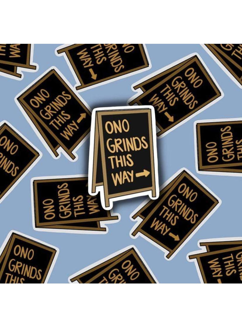 Cassi Essentials Gift Ono Grinds This Way Gloss Sticker Valia Honolulu