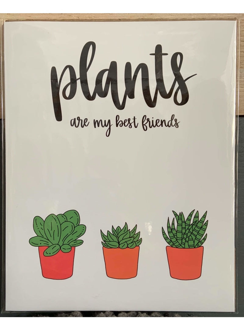 Cassi Essentials Gift Plants Are My Best Friends Art Print - Succulents Valia Honolulu