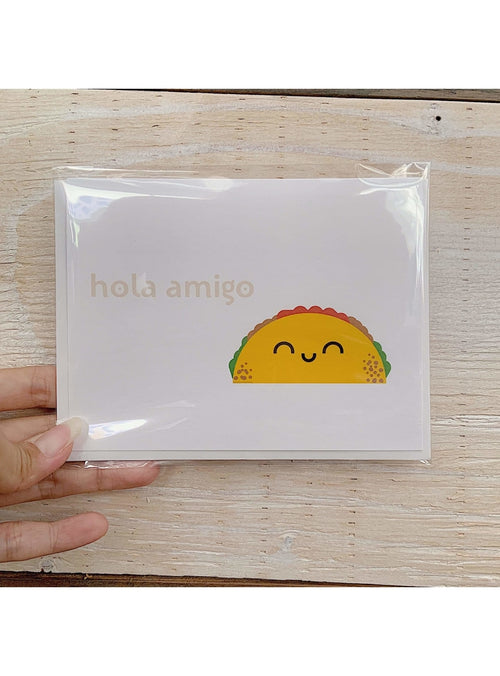 Death By Scrapbooking Gift Hola Amigo Card Sombrero Taco Card | Unique Handmade Greeting Cards | Valia Honolulu Valia Honolulu