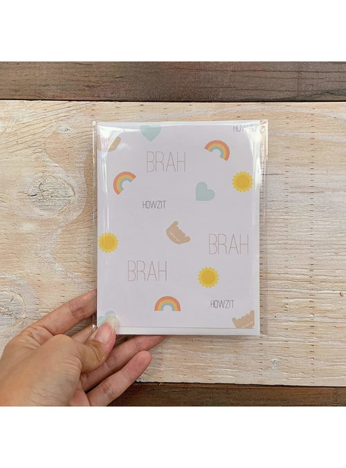 Death By Scrapbooking Gift Howzit Brah Card Avocuddle Card | Unique Handmade Greeting Cards | Valia Honolulu Valia Honolulu