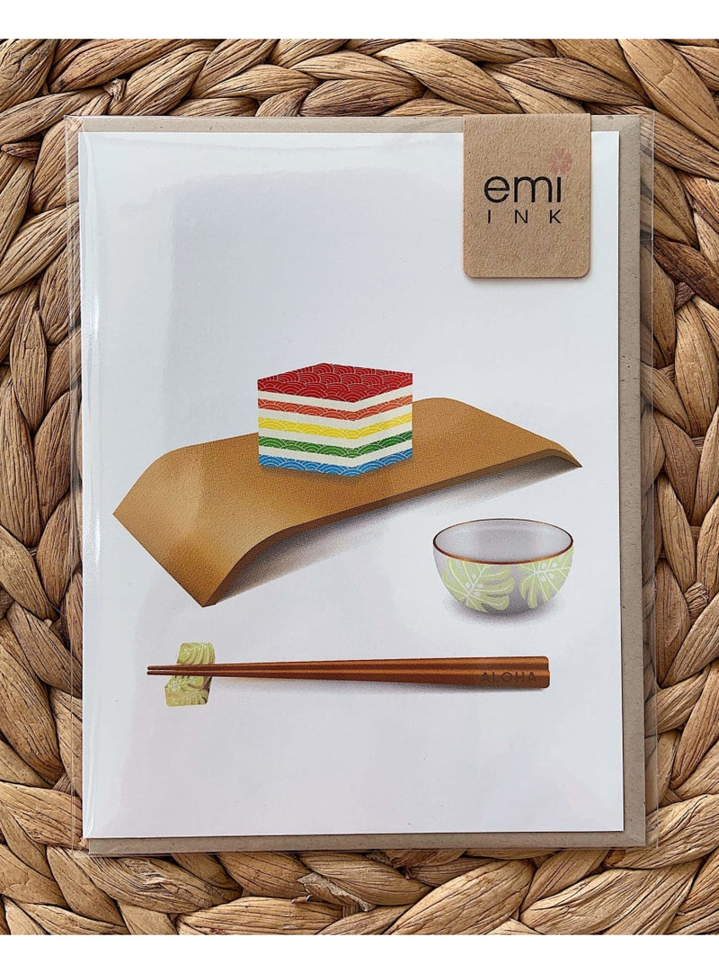 Emi Ink Stationary Sansei Rainbow Jelly Greeting Card Valia Honolulu