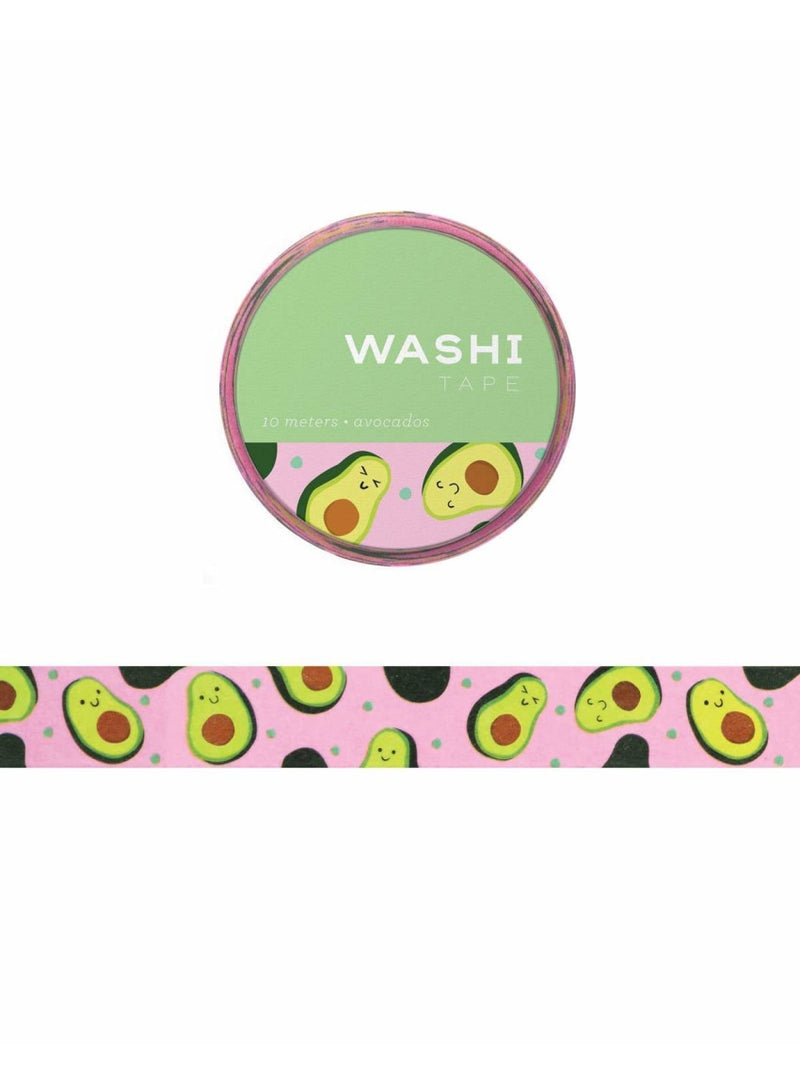 Girl of All Work Stationary Avocado Washi Tape Valia Honolulu