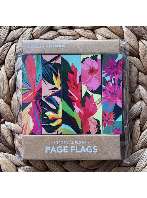 Girl of All Work Stationary Tropical Flora Page Flags Valia Honolulu