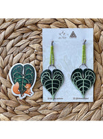 Haru Palette Jewelry Anthurium Earring + Sticker Set Leather Earrings | Anthurium Earring + Sticker Set | Haru Palette Valia Honolulu