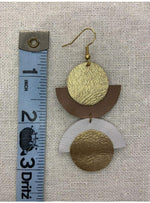 Beige Mismatched Moon Earrings