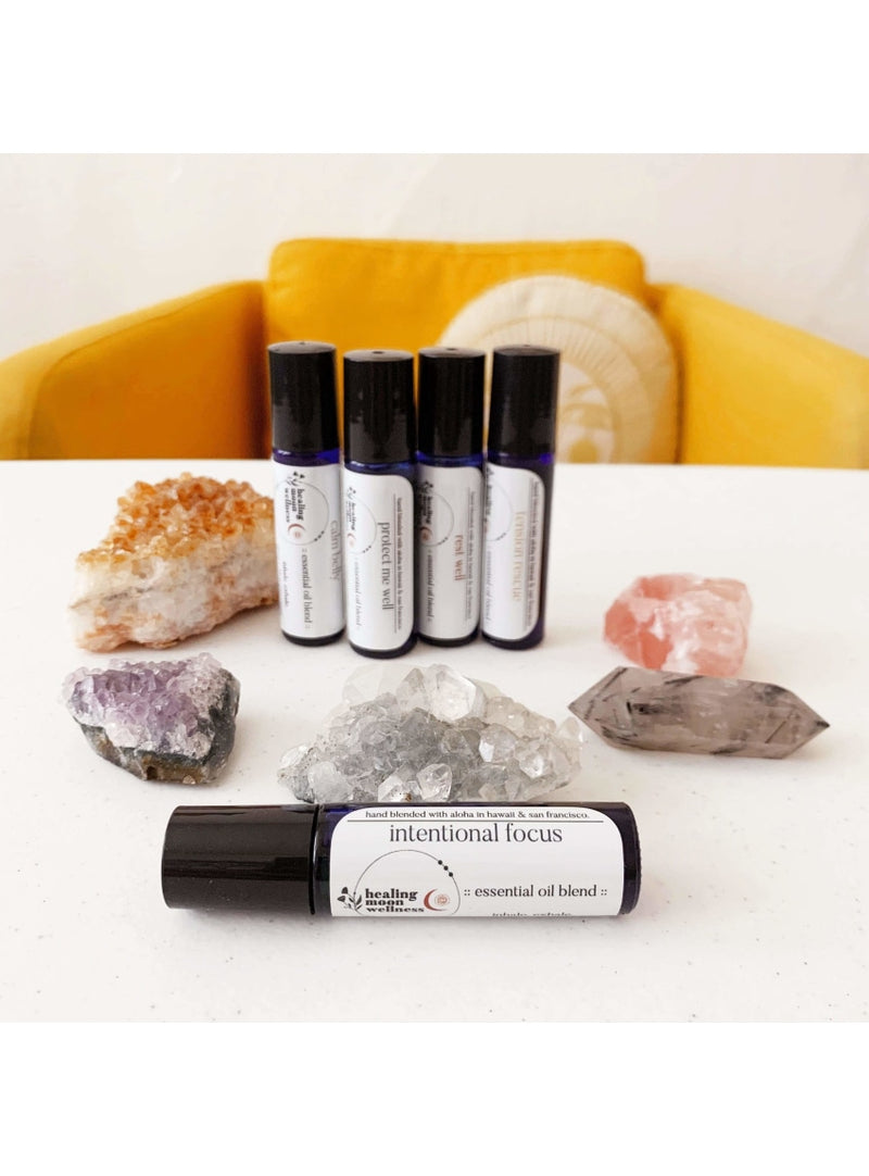 Healing Moon Wellness Self Care Intentional Focus Essential Oil Blend Healing Studio Natural Skin Care - No. 1 Face Oil Valia Honolulu
