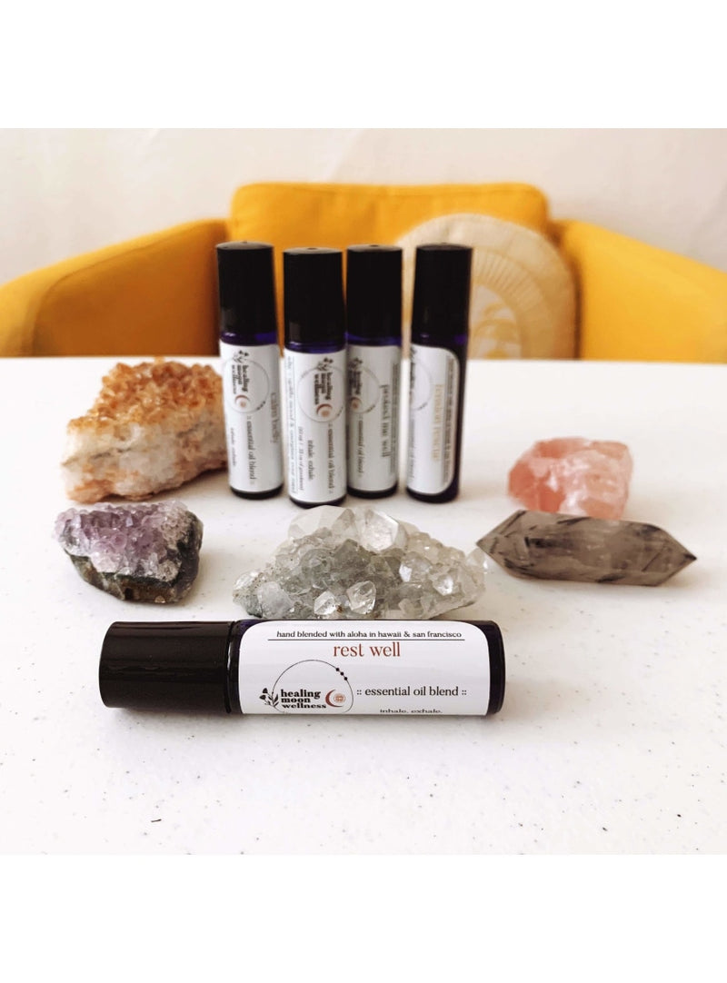 Healing Moon Wellness Self Care Rest Well Essential Oil Blend Healing Studio Natural Skin Care - No. 1 Face Oil Valia Honolulu