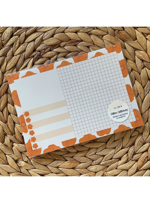 Kakou Collective Stationary 'Ilima Weekly Notepad Valia Honolulu