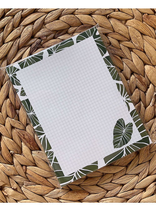 Kakou Collective Stationary Kalo Grid Notepad Valia Honolulu