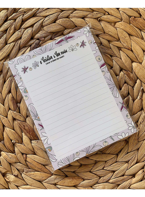 Kakou Collective Stationary Naupaka Lined Notepad Valia Honolulu