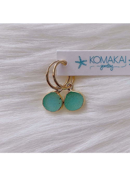 Komakai Jewelry Jewelry Agate Huggie Earrings North Star Huggie Earrings | Dainty Gemstone Jewelry | Valia H Valia Honolulu