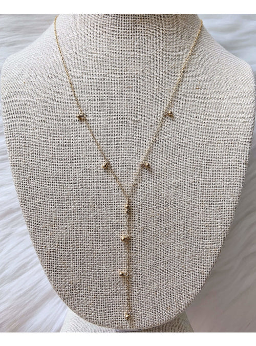 Komakai Jewelry Jewelry Lariat Necklace Beaded Gold Layering Necklace | Dainty Gemstone Jewelry | Valia Honolulu Valia Honolulu