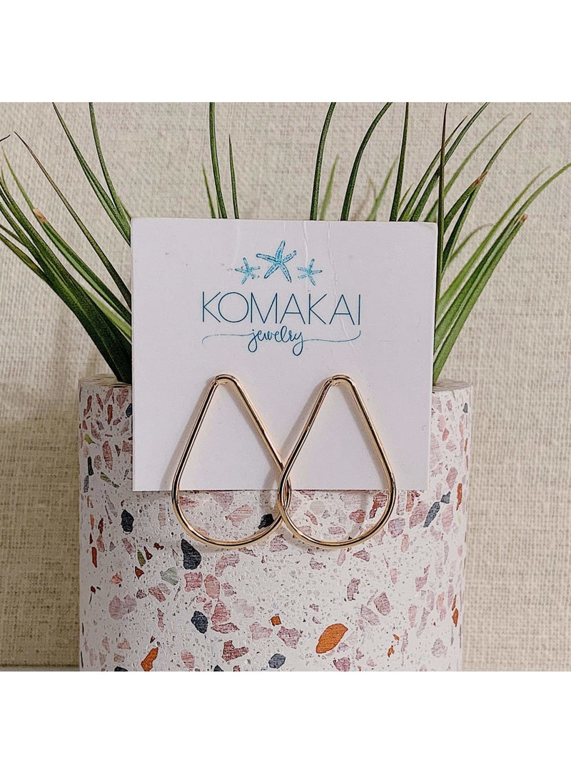 Komakai Jewelry Jewelry Teardrop Earrings Monstera Stud Earrings | Dainty Handmade Jewelry | Valia Honolul Valia Honolulu