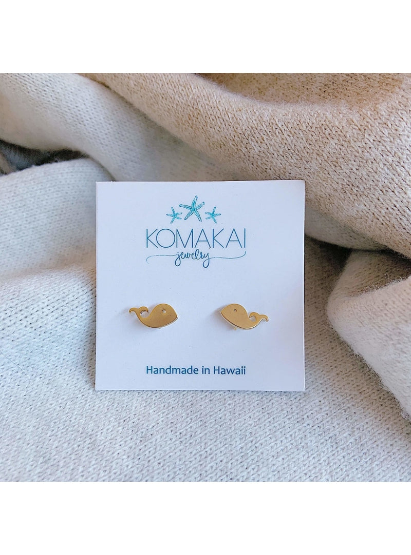 Whale Stud Earrings