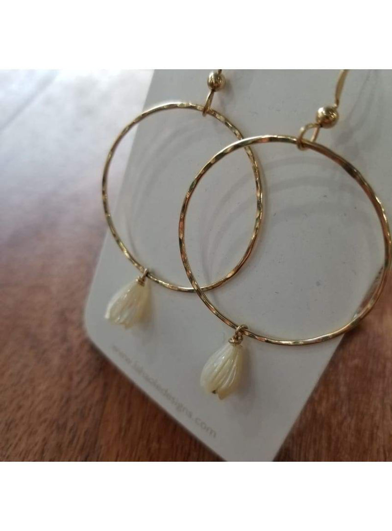 14k GF Medium Pikake Hoops