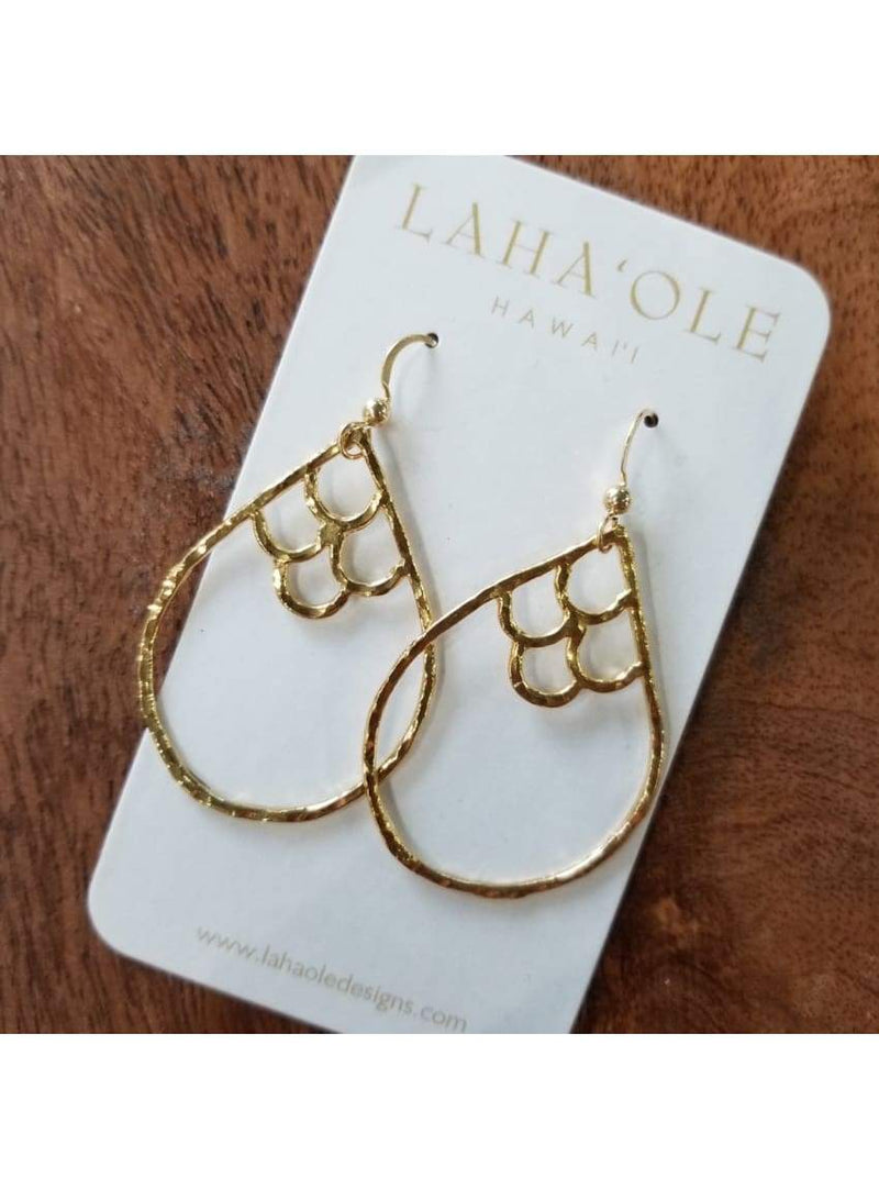 14k Vermeil Medium Kai Nalu Li'i Earrings