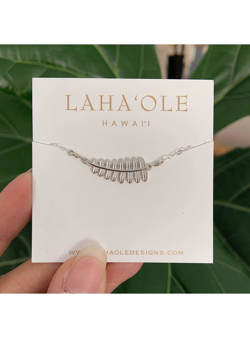 Laha'ole Jewelry SS Kupukupu Bar Necklace SS Kupukupu Bar Necklace | Handmade Hawaiian Jewelry | Valia Honolulu Valia Honolulu