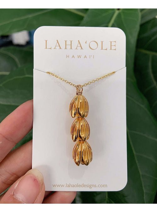 Laha'ole Jewelry Vermeil Pīkake Lariat Necklace - 2020 Collection Pikake Lariat Necklace | Handmade Hawaiian Jewelry | Valia Honolulu Valia Honolulu