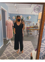 Loving People Jumpsuit Krista Jersey Jumpsuit in Black Valia Honolulu