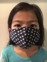 Keiki Face Mask in Blue Flower Print